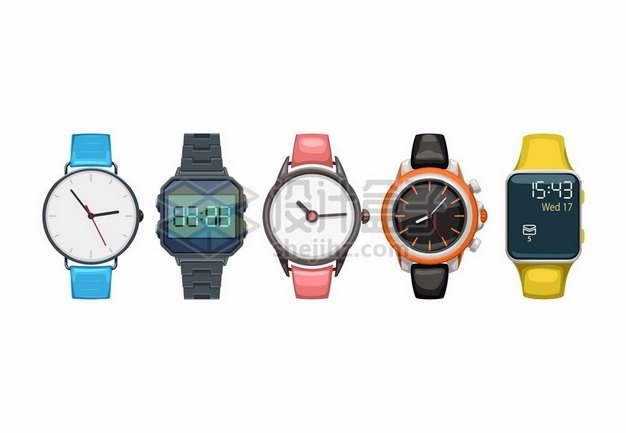 5款智能手表液晶手表687171png图片素材