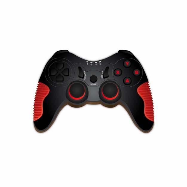 红黑色的游戏控制手柄png图片素材483689