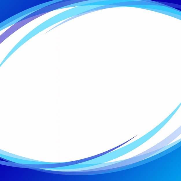 蓝弧形装饰边框581562png图片素材