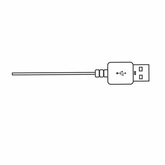 线条USB接口数据线png图片素材549073