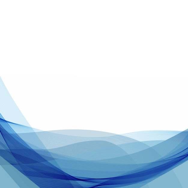 蓝色弧形波浪形装饰边框989527png图片素材