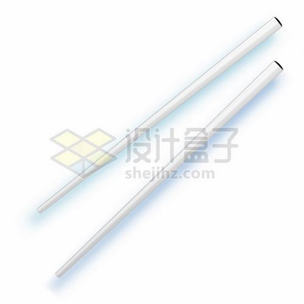 一双银白色的不锈钢筷子599691png图片素材