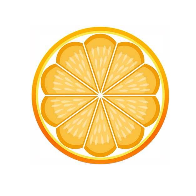 切开的橙子图案442867 png图片素材