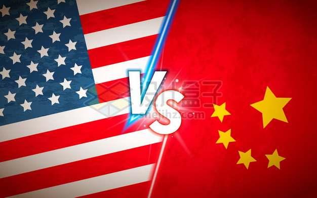 美国和中国国旗VS中美竞争关系插画386494png矢量图片素材
