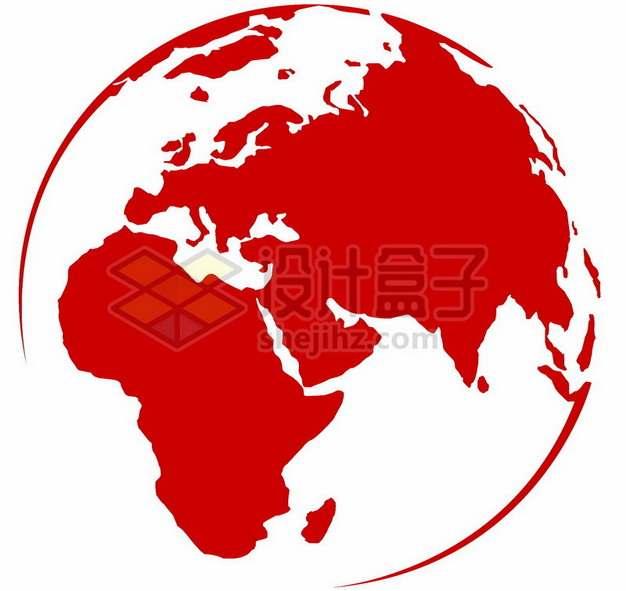 红色地球图案505974png图片素材