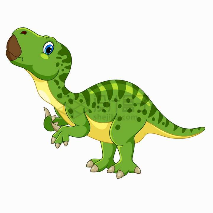 鹦鹉嘴龙恐龙可爱卡通动物png图片免抠矢量素材