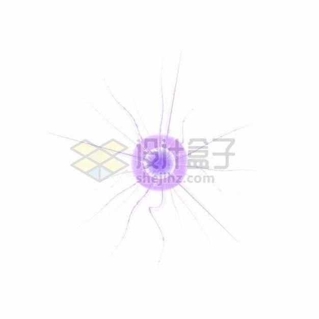 紫色带鞭毛的3D立体细菌病毒826564png图片素材