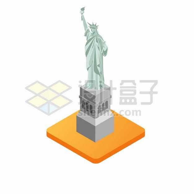 卡通雕塑纽约自由女神像285077png图片素材