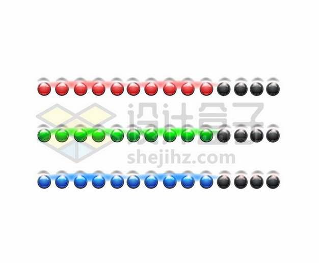 一排排的彩色发光按钮577489png图片素材