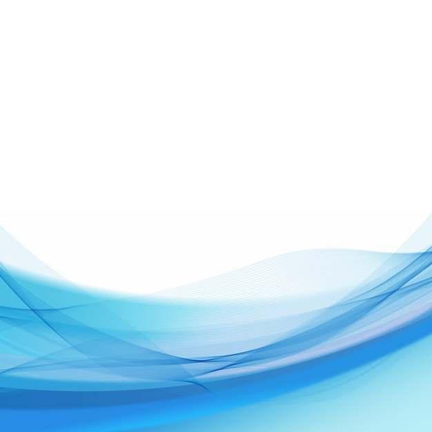 蓝色弧形波浪形装饰边框601649png图片素材