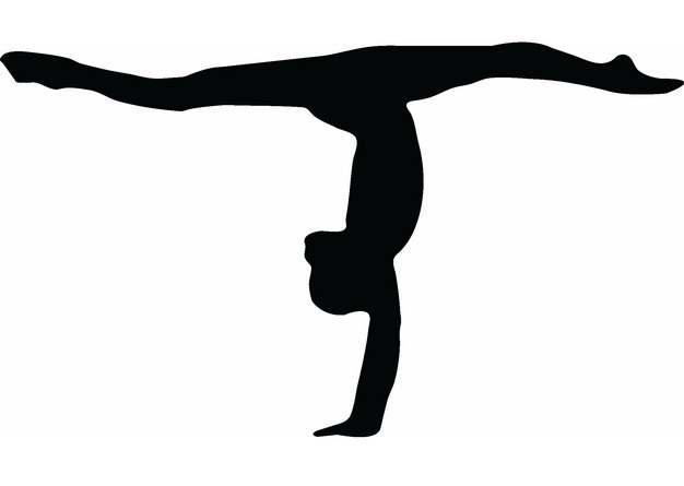 柔美艺术体操美女人体剪影png图片素材692883