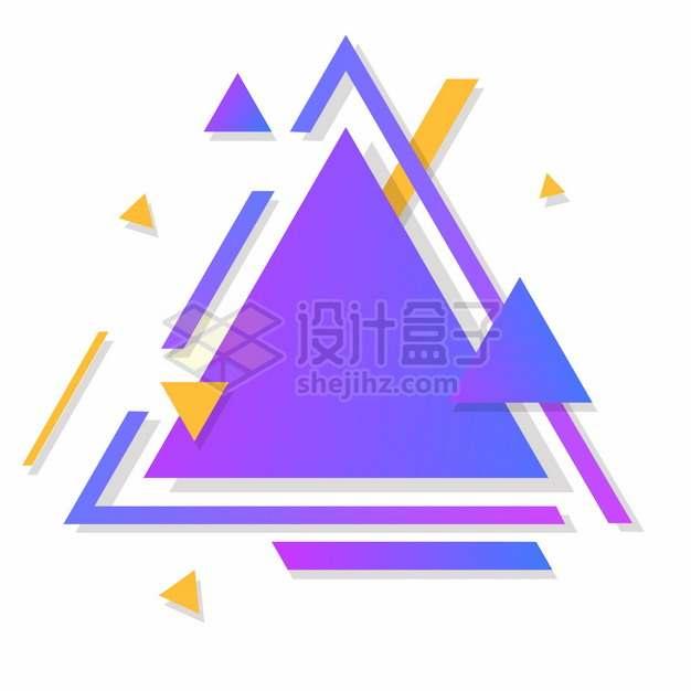 三角形渐变色装饰背景框文本框标题框279555png图片素材