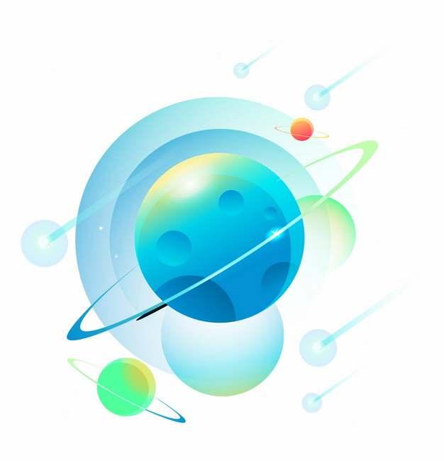 卡通星球宇宙天体png图片素材635633