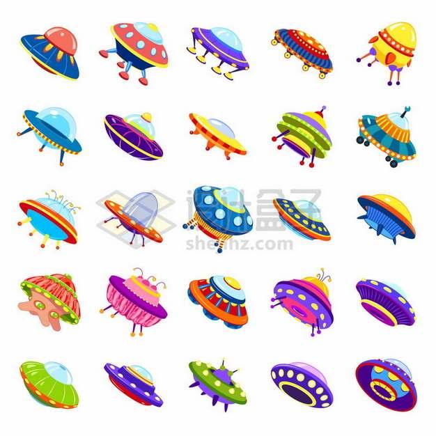 25款卡通UFO飞碟721013png图片素材