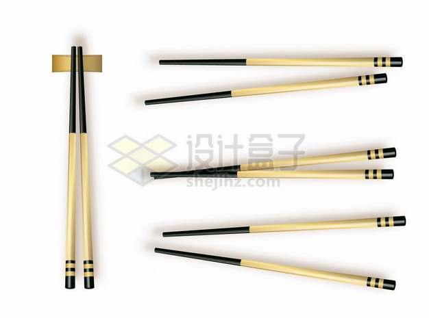 4款逼真的竹筷子486924png图片素材
