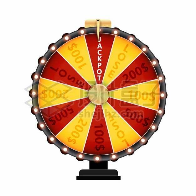 红黄相间的抽奖大转盘577164png矢量图片素材