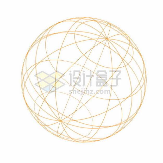 橙色线条经纬度地球球体模型326501png图片素材