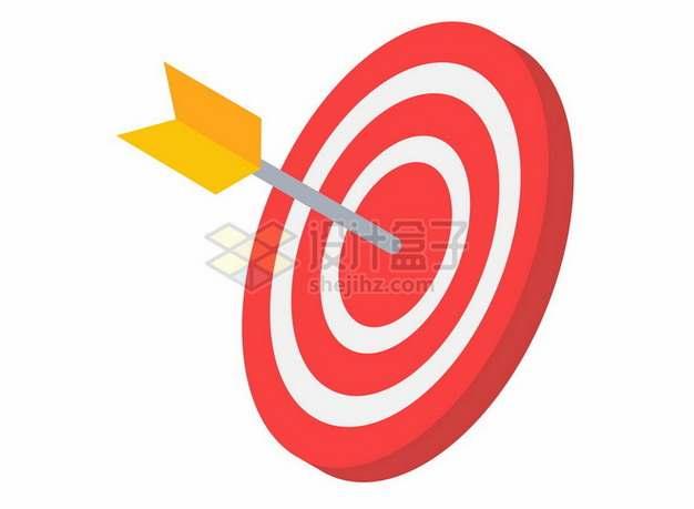 扁平化风格射箭正中靶心938902png图片素材