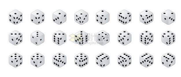 各个面的骰子301385png图片素材