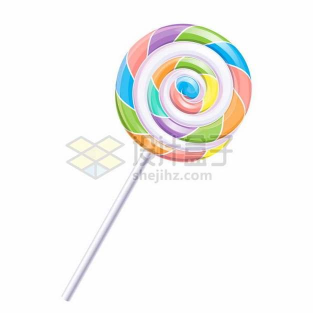 彩虹色旋转棒棒糖155118png图片素材