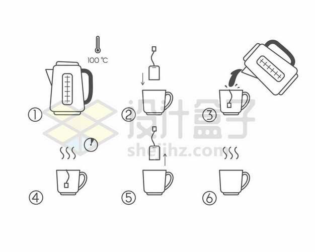 煮茶步骤图989955png图片素材