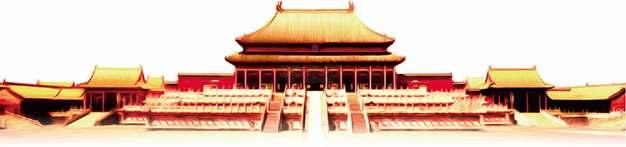 金色的故宫太和殿png图片素材