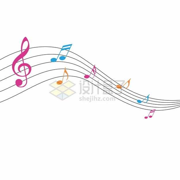 彩色音乐五线谱889007png图片素材
