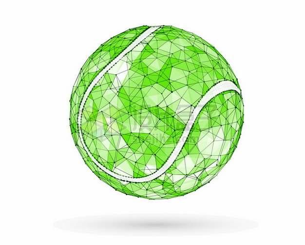 绿色多边形组成的网球小球447908png图片素材