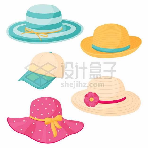 4款糖果色风格的遮阳帽女性帽子560819png图片素材