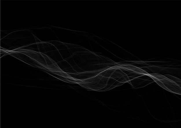 淡淡的白色线条曲线烟雾一缕青烟png图片素材