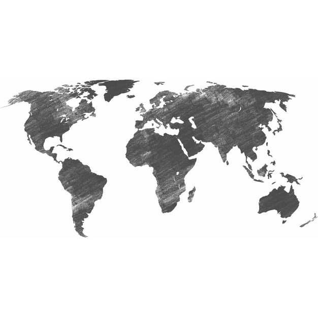 黑色铅笔涂鸦风格世界地图415847png图片素材