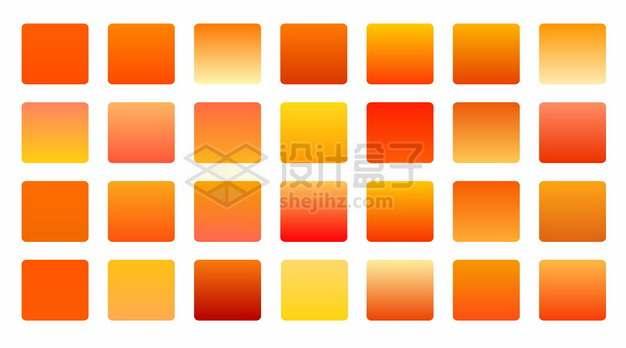 黄色红色渐变色方块204342png图片素材