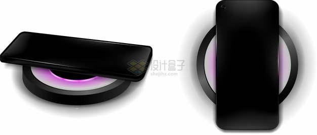 2个不同角度的无线充电器上的手机362529png图片素材