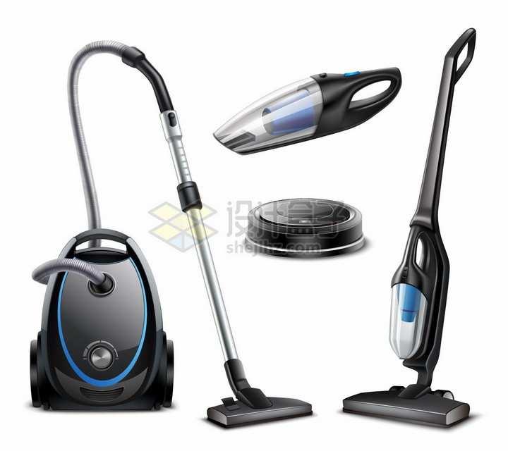 家用吸尘器无线吸尘器车载吸尘器扫地机器人等png图片免抠矢量素材