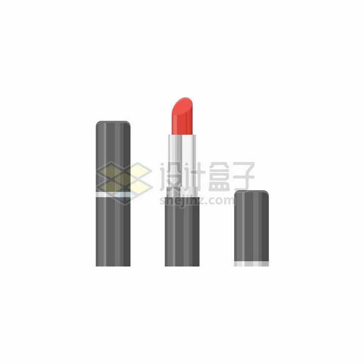 金属光泽的黑色口红化妆品png图片免抠矢量素材