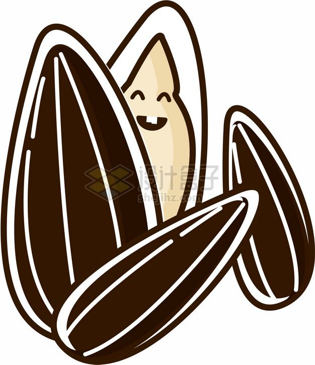卡通瓜子和瓜子仁376410png图片素材