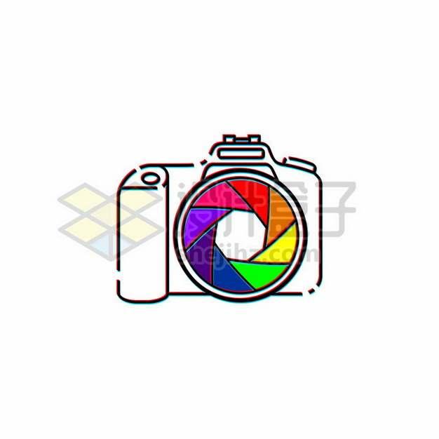 MBE风格彩色线条照相机图案880747png图片素材