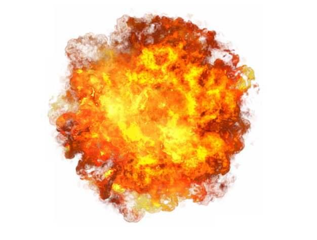 熊熊烈火燃烧着的爆炸效果148857png图片素材