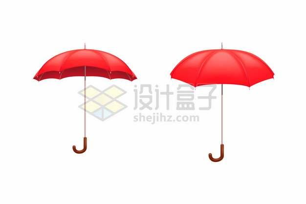 红色雨伞的两个不同角度502936png矢量图片素材