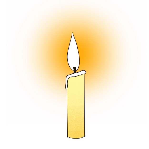 燃烧的蜡烛彩绘插画841956png图片素材
