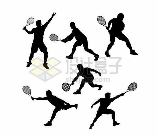 打网球的运动员剪影480743png图片素材