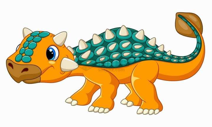 装甲龙恐龙可爱卡通动物png图片免抠矢量素材