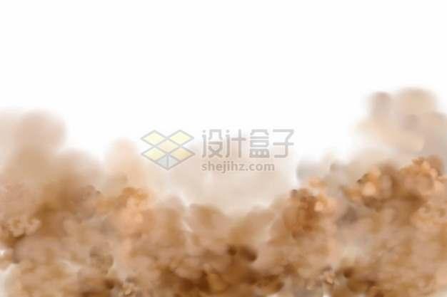 黄褐色的烟雾沙尘暴空气污染云团352534png图片素材