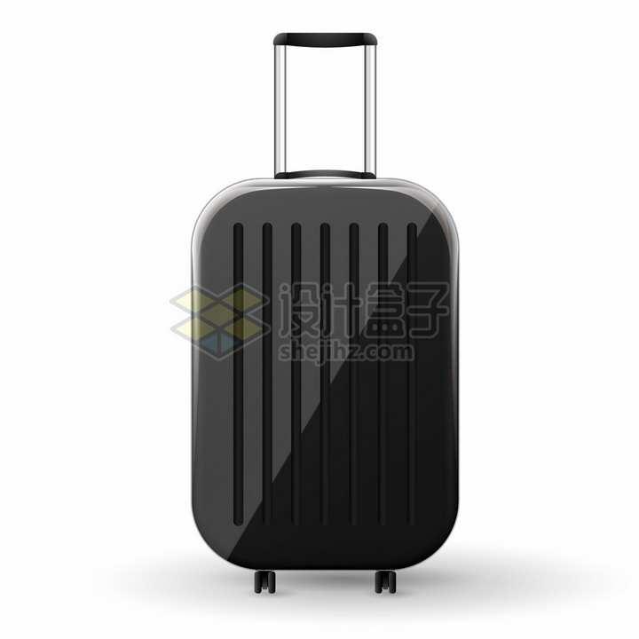 黑色的行李箱拉杆旅行箱png图片免抠矢量素材