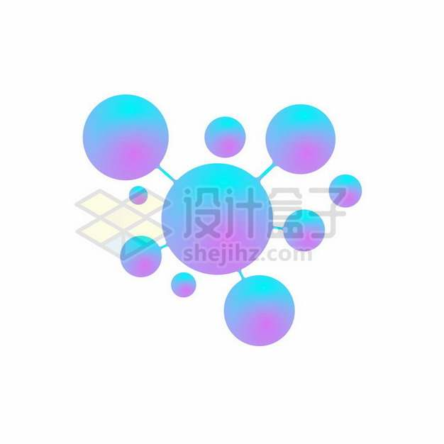彩色小球连接在一起587106png图片素材