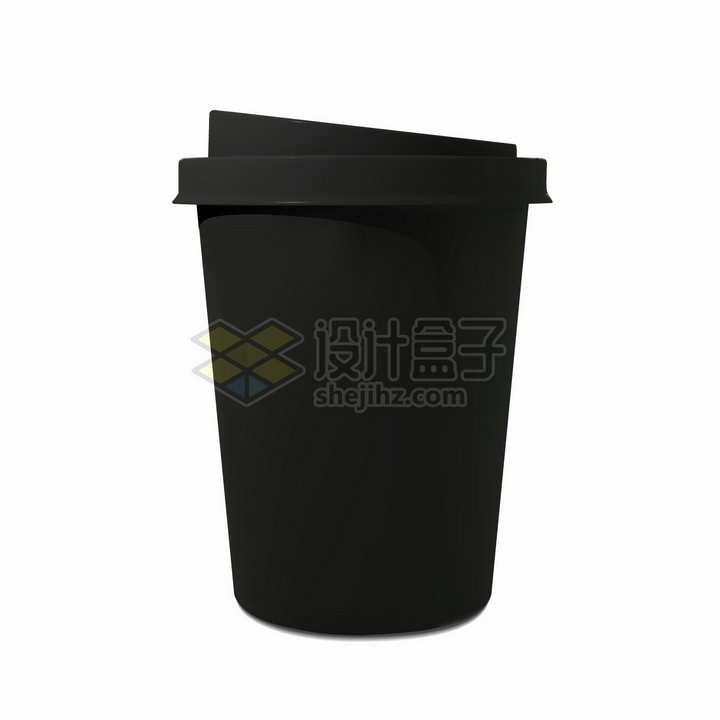 纯黑色的咖啡杯png图片免抠矢量素材