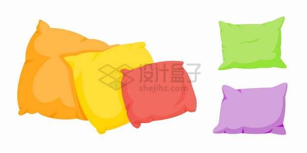 糖果色风格抱枕羽绒枕头png图片素材