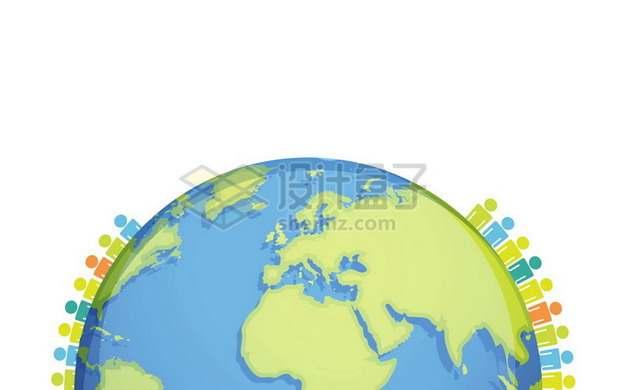 地球上的小人儿图标世界人口日703155png图片素材