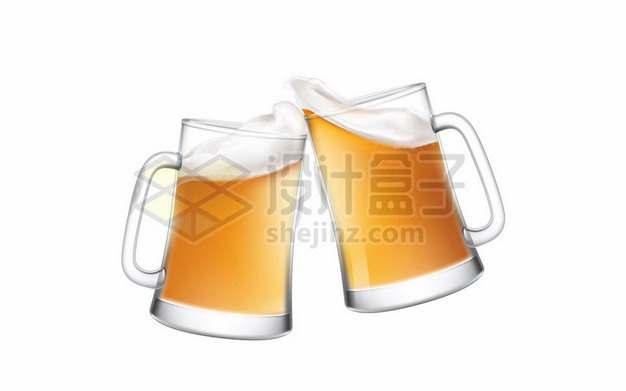 干杯的啤酒杯玻璃杯762955png图片素材
