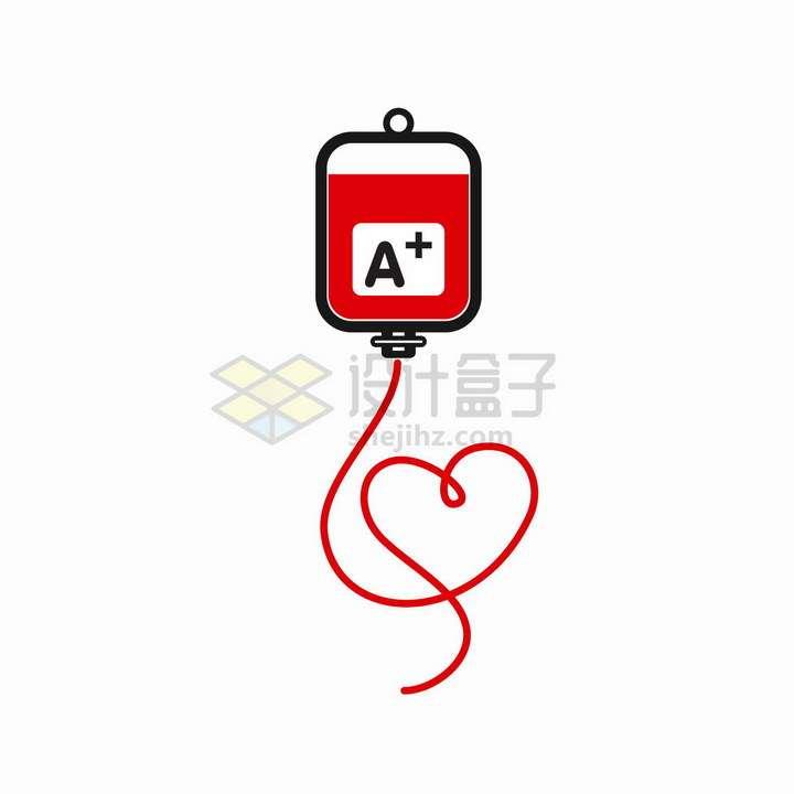 卡通扁平化风格血袋象征了无偿献血献爱心png图片免抠矢量素材